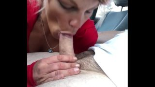 Pretty streetwalker watches as I cum in her mouth
