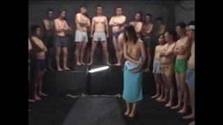 Japanese Teen Tied upside down used as a cum target