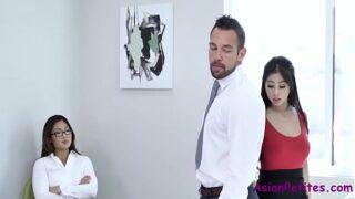 Asian Office Sluts- Jade Kush & Nyomi Star